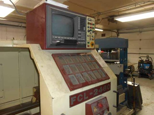 """Image 1 for Chevalier #FCL-2480, 24"""" swing x 80"""", Dynapath Delta CNC, 3-Jaw 15"""" chuck, Steady Rest, coolant, 1998"""