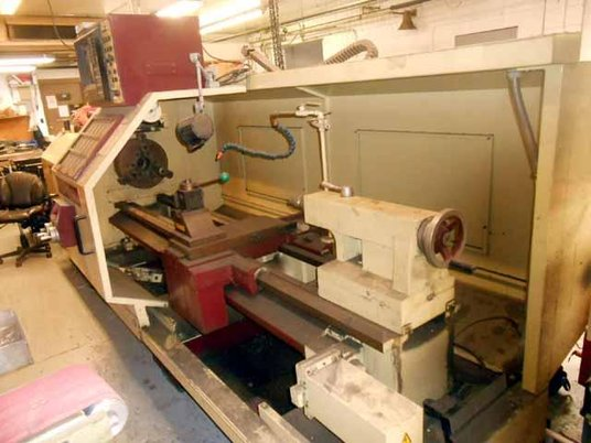 """Image 5 for Chevalier #FCL-2480, 24"""" swing x 80"""", Dynapath Delta CNC, 3-Jaw 15"""" chuck, Steady Rest, coolant, 1998"""