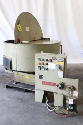 Image 1 for Almco #OR-5VLR, 4.2 cu.ft., rotary vibratory finisher, 3 HP, #10639