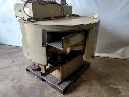 Image 3 for Almco #OR-5VLR, 4.2 cu.ft., rotary vibratory finisher, 3 HP, #10639