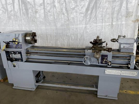 """Image 1 for 15"""" x 50"""" Enterprise #1550, engine lathe, inch/metric threading, steady rest, coolant, foot treadle, 44-2000 RPM"""