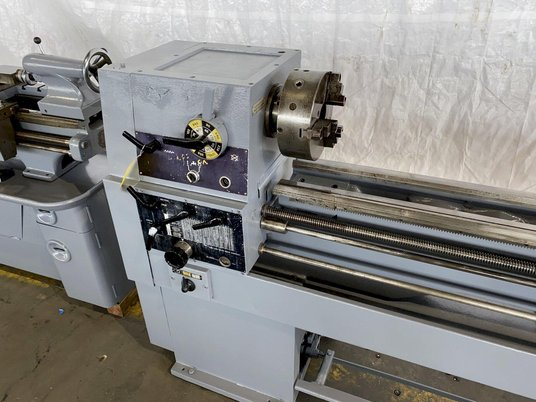 """Image 4 for 15"""" x 50"""" Enterprise #1550, engine lathe, inch/metric threading, steady rest, coolant, foot treadle, 44-2000 RPM"""