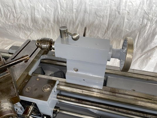"""Image 5 for 15"""" x 50"""" Enterprise #1550, engine lathe, inch/metric threading, steady rest, coolant, foot treadle, 44-2000 RPM"""