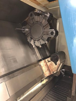 """Image 4 for Daewoo Doosan #Puma-15, CNC lathe, Fanuc 16T, 31"""" swing, 21"""" chuck, 5.2"""" spindle bore, 27"""" turning diameter, tailstock, chip conveyor, 2000 RPM, 1993-1996 (2 available)"""