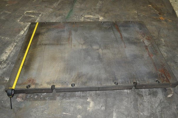 """Image 1 for Bolster Plate: 72"""" x 48"""" x 3"""", press mounting holes"""