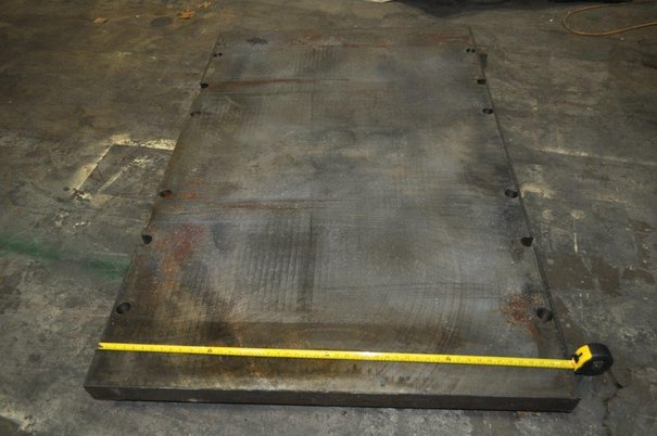 """Image 2 for Bolster Plate: 72"""" x 48"""" x 3"""", press mounting holes"""