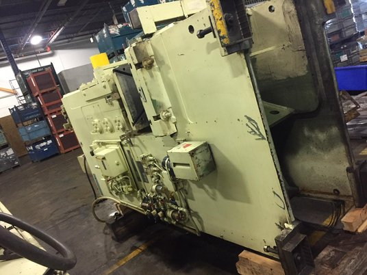 "Image 3 for 100 Ton, Niagara #E-90-S, gap frame press, 4.5"" stroke, 15.75"" shut height, 4.5"" adjustment, 25"" x 39"" bed, 46 SPM, 1989"