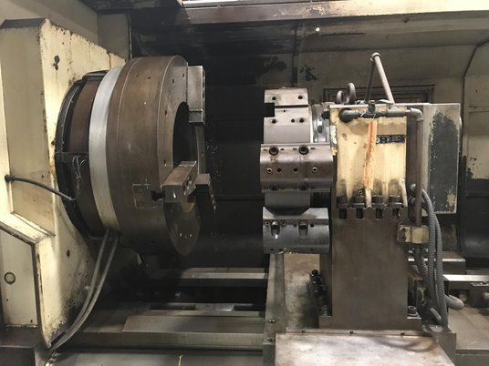 """Image 6 for Sunfirm #CHT-5680, oil field, 56"""" swing, 40"""" chuck, 22"""" bar, 8 turret, 2-Axis, Fanuc 0i-TC, tailstock, 2007"""