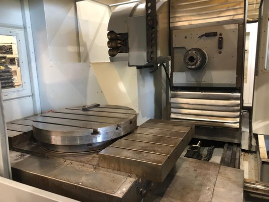 "Image 5 for Haas #EC-1600-4X, 30 automatic tool changer, 64"" X, 40"" Y, 32"" Z, 7500 RPM, #50, 30 HP, rigid tap, 4-Axis, thru spindle coolant, 2005"