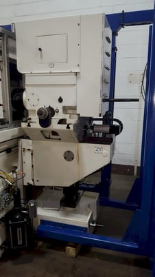 "Image 7 for Nichols #Big-Twin-Belden, 37"" stroke, A-B PLC Control, chip conveyor, 10"" x42"" table, (2) 10 HP  Spindle motors, 2013"