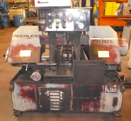 """Image 1 for 8"""" x 12"""" Peerless #HB-812A, automatic horizontal band saw, 10"""" round, 16"""" wheel, 1995, #16982"""
