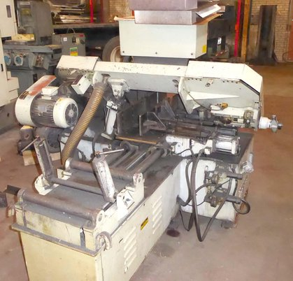 """Image 2 for 8"""" x 12"""" Peerless #HB-812A, automatic horizontal band saw, 10"""" round, 16"""" wheel, 1995, #16982"""