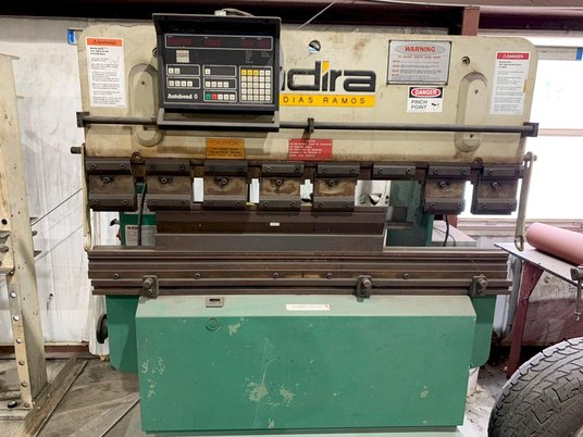 """Image 1 for 32 Ton, Adira #QHA-3215, hydraulic press brake, up-acting, 5' overall, 43.3"""" between housing, Hurco 2-Axis CNC Back Gauge"""