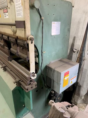 """Image 3 for 32 Ton, Adira #QHA-3215, hydraulic press brake, up-acting, 5' overall, 43.3"""" between housing, Hurco 2-Axis CNC Back Gauge"""