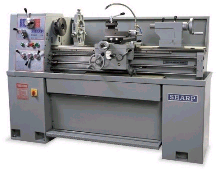"""Image 1 for 14"""" x 40"""" Sharp #1440V, precision variable speed manual engine lathe, 3-Jaw 8"""" chuck"""