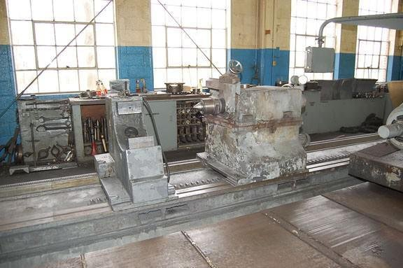 """Image 5 for 40"""" x 393"""" Waldrich #WSIII40, roll grinder, 30"""" x 4"""" wheel, 4-jaw 21"""" chk, 29"""" face plate, 1965"""