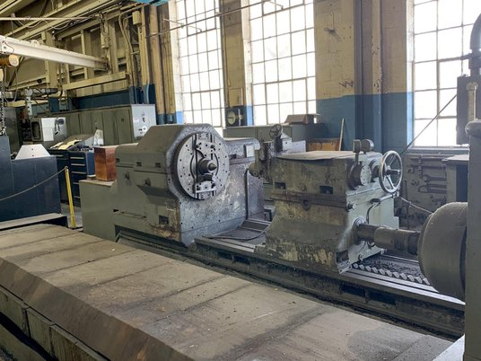 """Image 7 for 40"""" x 393"""" Waldrich #WSIII40, roll grinder, 30"""" x 4"""" wheel, 4-jaw 21"""" chk, 29"""" face plate, 1965"""