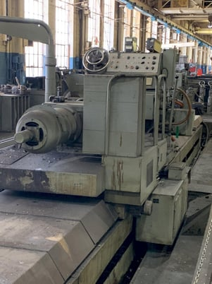"""Image 10 for 40"""" x 393"""" Waldrich #WSIII40, roll grinder, 30"""" x 4"""" wheel, 4-jaw 21"""" chk, 29"""" face plate, 1965"""