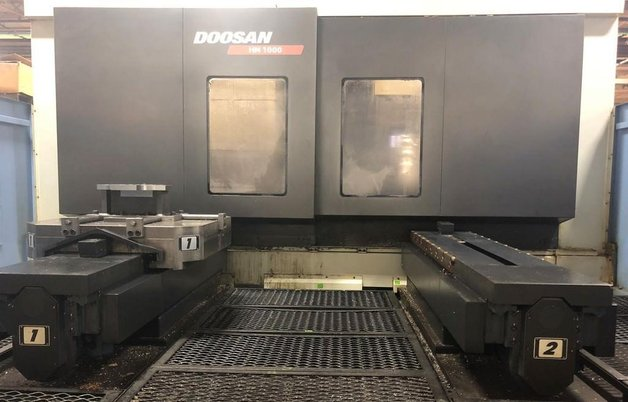 """Image 1 for Doosan Daewoo #HM-1000, CNC horizontal machining center, 90 automatic tool changer, 82.3"""" X, 49.2"""" Y, 49.2"""" Z, 6000 RPM, #50, 35 HP, 4-Axis, Fanuc 31i-MA, chip conveyor, thru spindle coolant, 2011"""