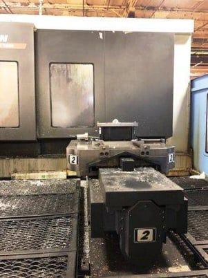 """Image 3 for Doosan Daewoo #HM-1000, CNC horizontal machining center, 90 automatic tool changer, 82.3"""" X, 49.2"""" Y, 49.2"""" Z, 6000 RPM, #50, 35 HP, 4-Axis, Fanuc 31i-MA, chip conveyor, thru spindle coolant, 2011"""