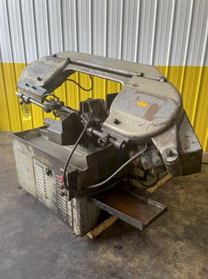 """Image 1 for 10"""" x 10"""" Meba #250A-14, automatic horizontal bandsaw, power infeed, dual vise clamps, conveyor feed"""