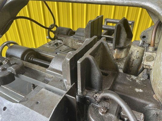 """Image 3 for 10"""" x 10"""" Meba #250A-14, automatic horizontal bandsaw, power infeed, dual vise clamps, conveyor feed"""
