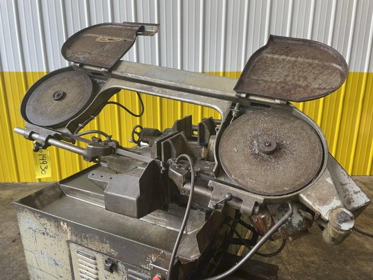 """Image 5 for 10"""" x 10"""" Meba #250A-14, automatic horizontal bandsaw, power infeed, dual vise clamps, conveyor feed"""