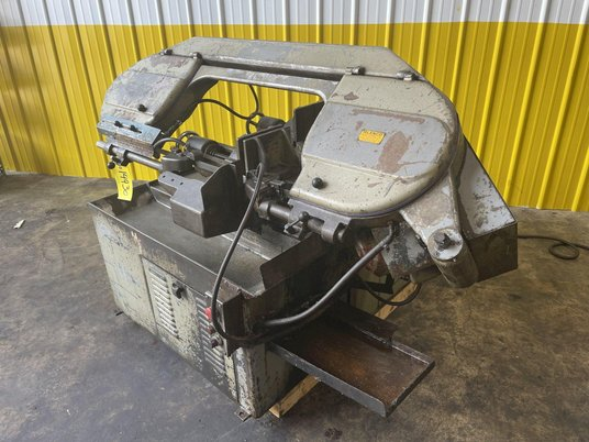 """Image 9 for 10"""" x 10"""" Meba #250A-14, automatic horizontal bandsaw, power infeed, dual vise clamps, conveyor feed"""