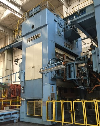 """Image 1 for 2200 Ton, Weingarten #VK-2000.43.85, Link Drive, 160""""x86"""" bed, 33"""" stroke, 59"""" SH, 8-16 SPM, windows, cushions, rolling bolster, low price"""