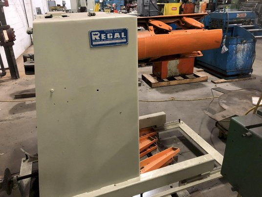 """Image 2 for 6000 lb. Regal #6000-18SRNP, motorized coil reel, 18"""" width, 14""""-24"""" ID, 60"""" outside dimensions, manual expansion, 6 coil keepers, #13505J"""
