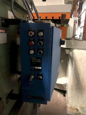 """Image 1 for 150 Ton, Federal #150, back geared press, 6"""" stroke, 22"""" Shut Height, 35 SPM, 50"""" x 30"""" bed area, remanufactured 1995"""