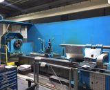 """Image for Tacchi #HD/3-105, gap bed, Fanuc O-TB, 59.1"""" swing, 24"""" chuck, 720 RPM, 45"""" diameter turning, 6.1 bar, chip conveyor, steady rest, 1993"""
