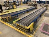 """Image for 36"""" wide x 30' long, Lewco roller conveyor, 60' total length, (2) sections, #10367"""