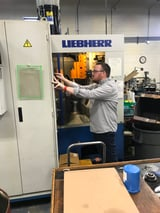 """Image for Liebherr #LC122, 6-Axis high speed gear hobber, 5"""" dia., 8 DP, LH-90 CNC, chip conveyor, 1997"""