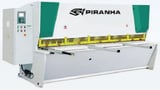 """Image for 1/4"""" x 6' Piranha CNC hydraulic guillotine style shear, 39"""" BG, 10 HP, 10 hold downs, new"""