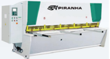 """Image for 1/4"""" x 8' Piranha CNC hydraulic guillotine style shear, 39"""" BG, 10 HP, 14 hold downs, new"""