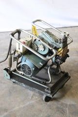 "Image for No. GBM-15, Gullco, plate beveler, .59"" W, .54"" D, 4 HP, caster wheel base, 1997, #10526"