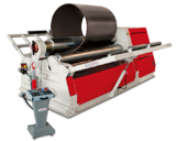 """Image for 48"""" x 1/4"""" Akyapak #AHS-12/04, 4-roll plate roll, torsion bar, digital display, cone bending device, free standing Control panel"""