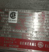 Image for 300 HP 1785 RPM General Electric, Frame 5011L, TEFC, 4000 V.(3) in stock