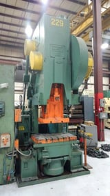 """Image for 110 Ton, USI Clearing #110, C-frame press, 8"""" stroke, 20.5"""" Shut Height, 5"""" adj, 42"""" x27"""" bed, 50 SPM"""