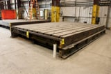 """Image for 154"""" x 226"""" x 13-3/4"""", T-Slotted floor plate, made up from (2) 77"""" x226"""" plates, #11492"""