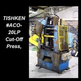"""Image for 20 Ton, Tishken #ACO-20-LP, 4-post cut-off press, 1 -1/2"""" stroke, 14"""" open height, Mac air valve, push buttons, die return cylinder"""
