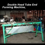 "Image for 1"" (25.4mm) Double Head Tube End Forming Machine, air cylinder clamping, control panel"