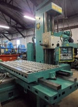 """Image for 5"""" Giddings & Lewis Fraser #A130T, CNC horizontal boring mill, 48"""" x98"""" table, Numeripoint M-400 Control with CRT - manual control, #50 taper with power draw bar"""