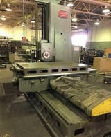 "Image for 4"" Lucas #42B-60, horizontal boring mill, 74"" x 48"" table, 1200 RPM, 20 HP, 36"" spdl, 6MT, pendant control, S/N 42B1502"