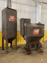 "Image for 36"" L S Industries, 34"" x 28"", rotary basket blast machine, dust collector, #12652"