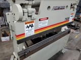"""Image for 60 Ton, Accurpress #7606, hydraulic press brake, 6' overall, 50.75"""" between housing, 24"""" Back Gauge, ETS100 Pedestal, 1999"""