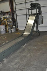 """Image for 22"""" wide x 20' long, Livonia #D-24, magnetic scrap conveyor"""