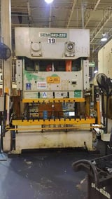 """Image for 220 Ton, Seyi #SN2-220, 95"""" x33"""" bed, 73"""" x33"""" ram, 9"""" stroke, 25-45 SPM, under power, 2012 (4 available)"""
