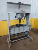 Image for 150 Ton, Dake #150H, air over hydraulic H-frame press, #13940
